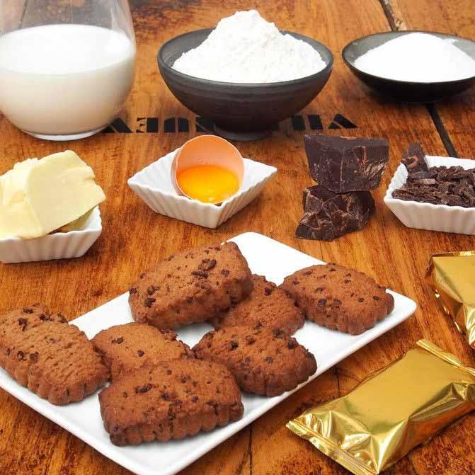 PASTAS DE CHOCOLATE Y AVELLANA (ROCAS)