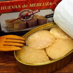 HUEVAS DE MERLUZA EN ACEITE DE OLIVA (115 Grs.)