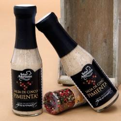SALSA DE CINCO PIMIENTAS SELECCIÓN GOURMET (310 ml.)
